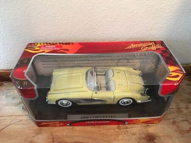 barato American Graffiti 1 1 1 18 1958 Amarillo Corvette. 2005 Motormax  precioso
