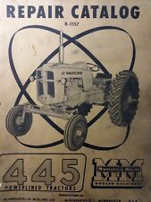 Minneapolis Moline Mm 445 Gasoline Farm Agricultural 3point Tractor Parts Manual