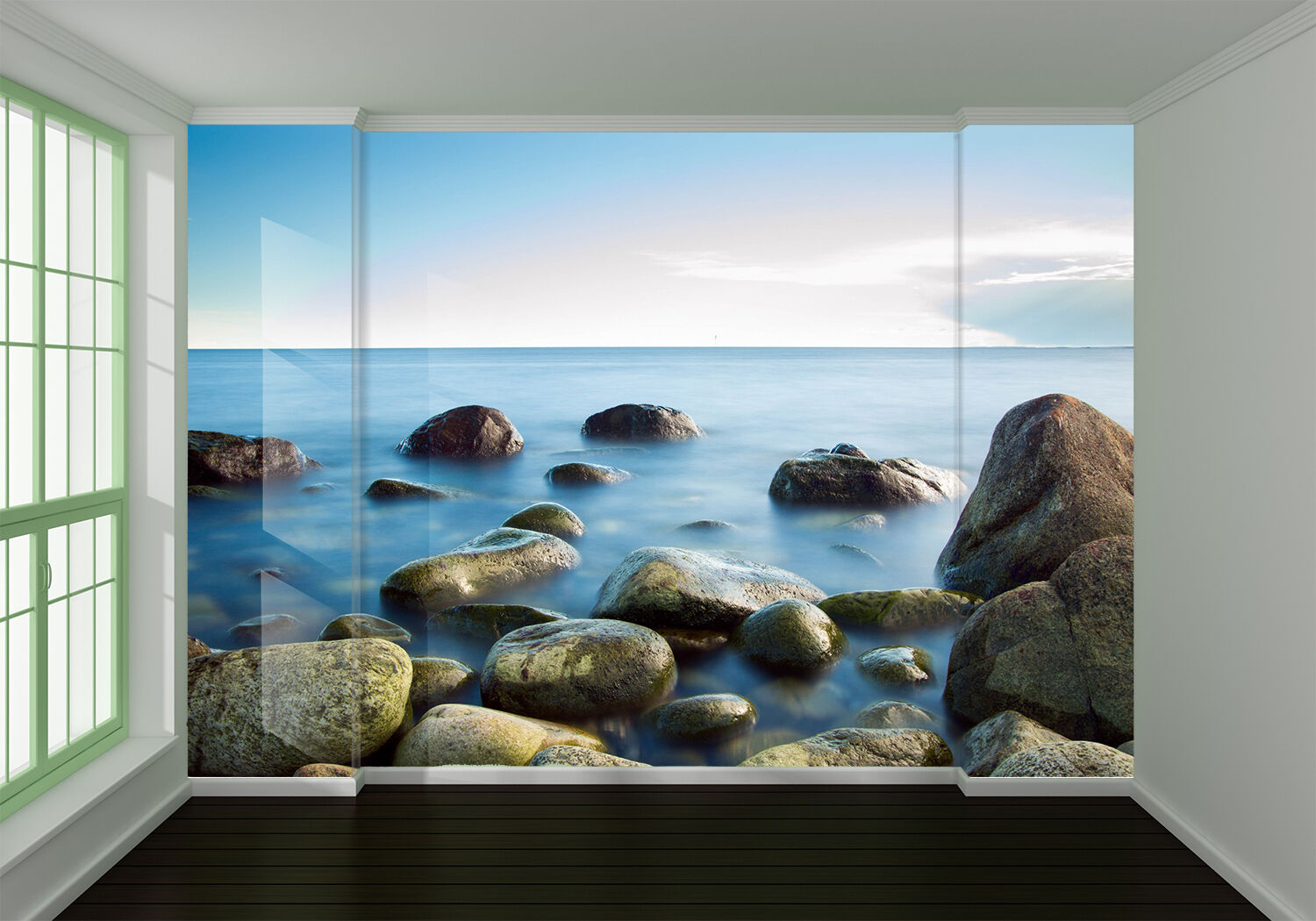 3D Stone And Sea 656 Wall Paper Wall Print Decal Wall Deco Indoor Wall