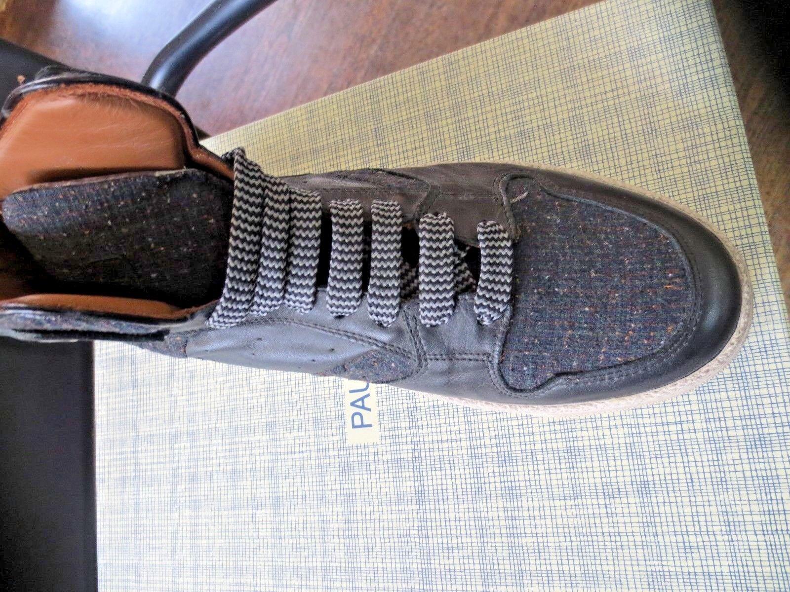 Paul & Joe basket nappa noir tweed NEUVE Valeur 230E Pointures 40,41,44 Scarpe classiche da uomo