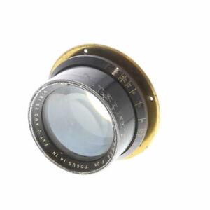 """Vintage Goerz 14"""" f/5.5 Dogmar Large Format Lens, Pat'd Aug. 25, 1914 - UG"""