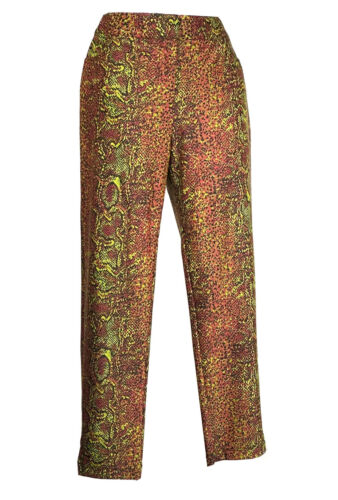 Vintage 90s Y2K Pants Betsey Johnson Graphic Snake