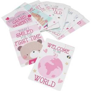 30 BABY GIRL MEMORABLE MOMENTS MILESTONE CARDS NEW BABY SHOWER GIFT  5033601664215