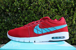 sports shoes 1b737 3255e Image is loading NIKE-SB-KOSTON-MAX-SZ-10-UNIVERSITY-RED-