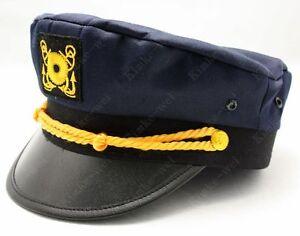 Dark-Blue-Yacht-Captain-Skipper-Sailer-Boat-Cap-Hat-New