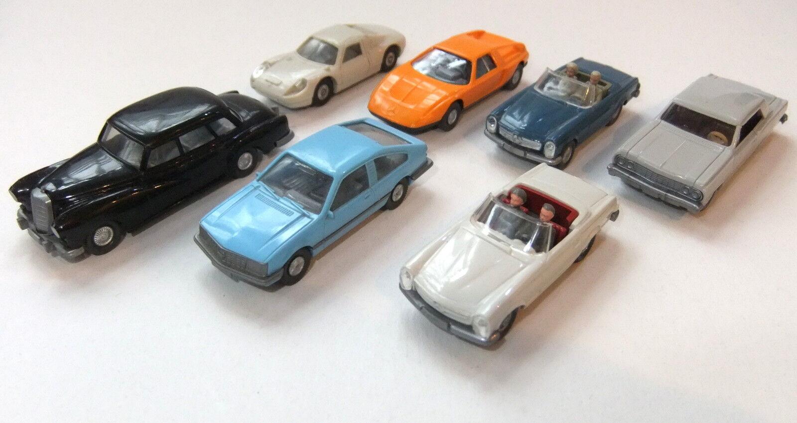 Interesting Wiking Cars Bundle 7 Parts HO 1 87
