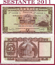 HONG KONG -  5 DOLLARS 31.10. 1973  -  SERIE FJ   - P. 181f -  FDS / UNC perfect