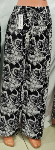 Ladies Trousers Palazzo Floral Spring Loose Fit Harem Womens Girls New