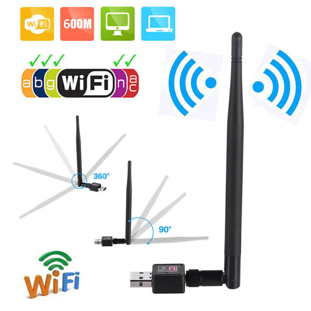 600M USB 2.0 Wifi Router Wireless Adapter Network LAN Card with 5 dBI Antenna HU