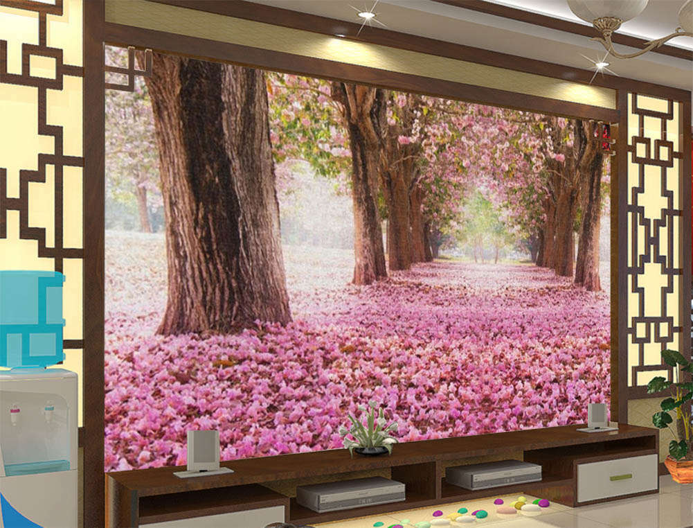 The Fallen Petal color  3D Full Wall Mural Photo Wallpaper Print Home Kids Decor