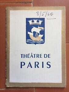 Programme-Theatre-de-Paris-the-Contessa-or-Pleasure-D-039-Be-Maurice-Druon