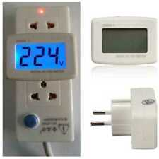 E22P Digital Voltmeter AC 80V-300V Blue Backlit LCD 220V Voltage Meter Plug Type