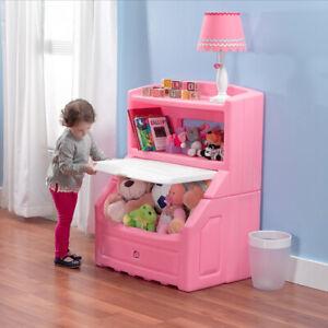 Details about Toy Storage Box Large Organizer Chest Bin Kids Bedroom  Furniture Bookcase Pink