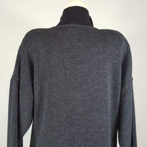 Spalline a iconiche 90 Francia anni tunica abito Maglione lungo vintage xXwOqTddS