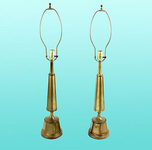 Image Is Loading Mid Century Rembrandt Table Lamps A Pair Pair