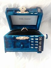 Tardis Ring Box With Light. Proposal Dr Who Ring Box Engagement Police Box Ring