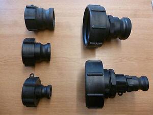 IBC Adaptor to Camlock or Hose Tail Fitting IBC Tank Water Fuel Oil Tank New IBC