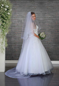 Bridal-Cathedral-Simple-Veil-on-Comb-Satin-Edge-VD-127