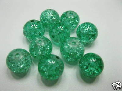Crash Perlen 10mm grün  basteln neu 5266