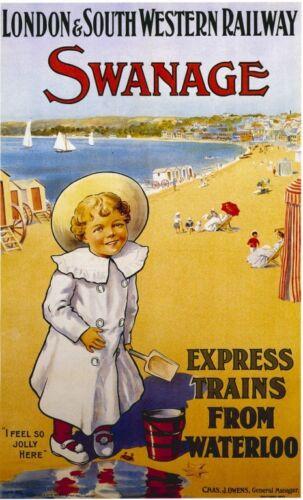 128  Vintage Railway Art Poster Swanage