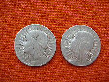 2 Poland Polska Silver Coins 5 Zlotych 1933 1934 Uncleaned Condition  Nr 2925
