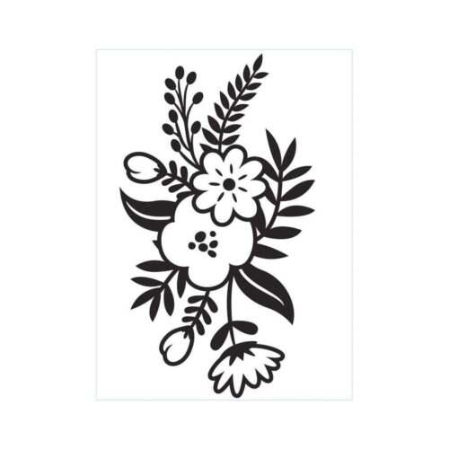 "small floral sprig 1219-411 Darice embossing folder 4 1//4/"" x5 3//4/"""