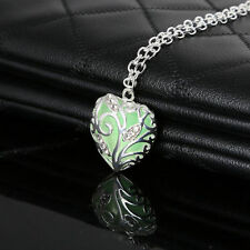 New Luminous Heart Magic Fairy Glow In The Dark Pendant Necklace Jewelry