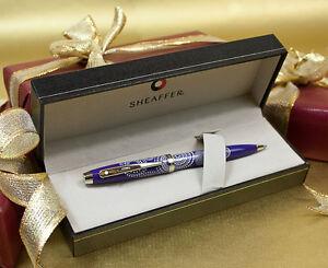 Sheaffer 100 Ballpoint Pen Glossy Purple New Gift Boxed Zenhk13g-07214907-496651974
