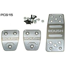 2005-2014 Mustang Roush Pedal Cover Billet w/ Roush Logo Set Manual Transmission