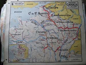 Antik Karte Schule Vidal Lablache Frankreich Kanäle N6 Plakat