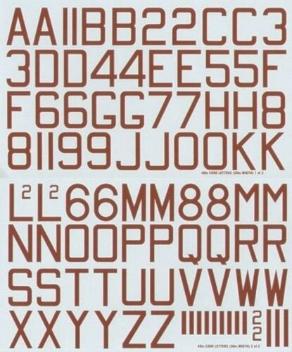 """Xtradecal 1:48 X48048 RAF WWII 48/"""" X 30/"""" X 6/"""" Bomber Squadron code lettres rouge"""