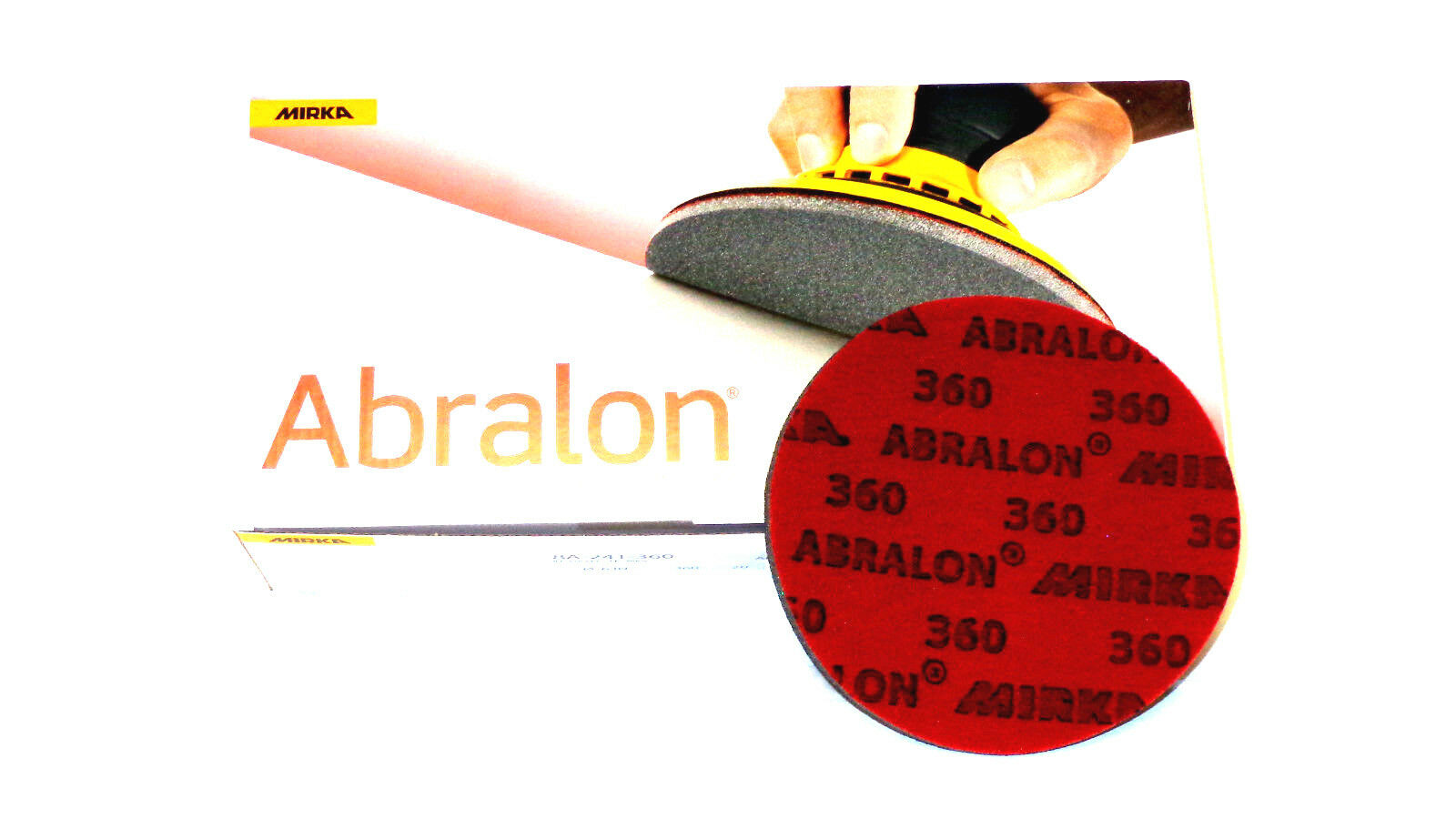 20  6   ABRALON PADS BRAND NEW 2000 GRIT - AUTHENTIC PADS BY MIRKA