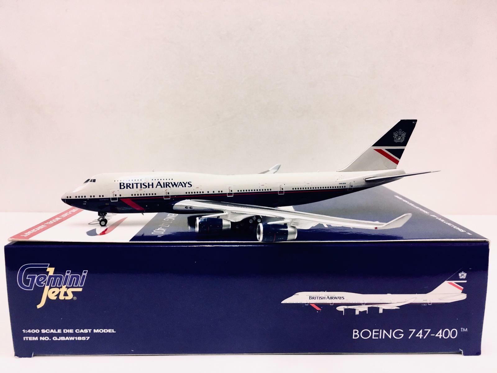 GEMINI JETS BRITISH AIRWAYS BOEING 747-400 1:400 LANDOR GJBAW1857 IN STOCK
