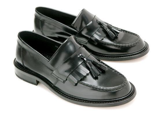 Ikon Originals Zapatos para Hombre Selecta Borla Mocasín-Negro