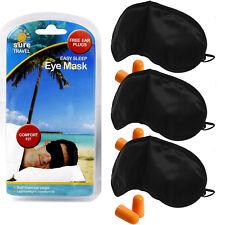 Sure Travel Ösen Schirm Multi Packung,3 Komfort Gefühl Masken + 3 Foam Ohr Plugs