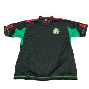 VINTAGE Mexican Football Federation Jersey Men's Size L Black Watermark Dry Fit
