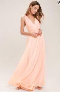 716878f660250e Lulus Dance the Night Away Maxi Dress - Blush - Small - NWT | eBay