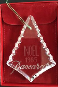 1985-Baccarat-Christmas-Tree-Ornament-Crystal-Glass-Noel-Box-Pouch
