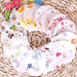 Baby Infant Anti-scratch Cotton Mittens Gloves Handguard 0-6 Months Newborn HOT