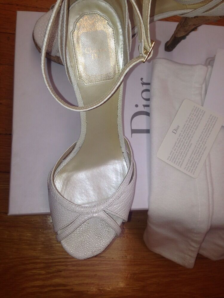 Christian Dior Authentic femmes Sandals Sandals Sandals Pumps Heels In Box Taille 37 Orig  1,550 c6c040