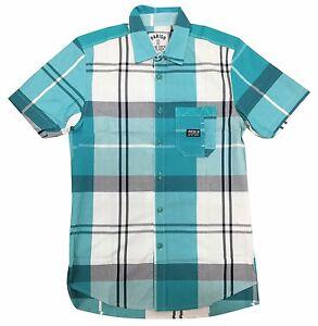 Parish-Nation-Teal-Short-Sleeve-Plaid-Woven-Shirt