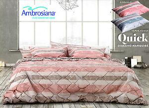 Completo letto lenzuola 100 cotone ambrosiana marquise matrimoniale 2 piazze ebay - Amici di letto completo ...