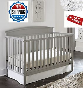 Image Is Loading Convertible Crib Set 5 In 1 Grey Graco