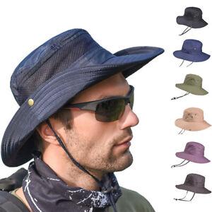 Bucket-Hat-Boonie-Hunting-Military-Sun-Hats-Mesh-Fishing-Outdoor-Cap-Wide-Brim