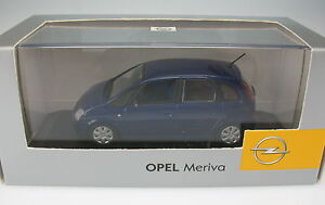 Minichamps-opel-meriva-a-metallic-blue-1-43-New-en-box-Model-Car