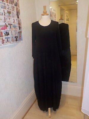 Peruzzi Black Wool Mix Long Dress W18163