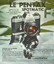 Publicité 1974  Appareil photo ASAHI PENTAX SPOTMATIC F