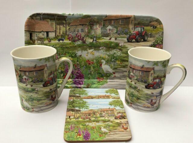 The Leonardo Collection Cow Mug And Coaster Set BNIB