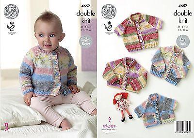 Sizes 31-51cm 4657 Cardigans King Cole Knitting Pattern