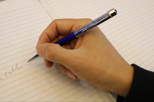 12 Packs Metal Slim Crystal Writing Pens Top Diamond Ballpoint Pen Best Gift